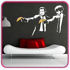 Banksy Style Pulp Fiction avec autocollant mural banane art stickers