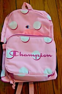 NWT PINK CHAMPION BACKPACK BOOKBAG WITH LUNCH BOX TOTE BACK PACK BOOK BAG 2 PC