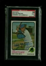 "Ted ""Teddy"" Martinez 1973 Topps SGC Authentic! 9 MINT w/ 10 Auto! RARE! NY Mets!"