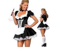 Damen Sexy Französisches Dienstmädchen Kostüm Größe Eu40-42 Inklusive Kleid
