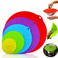 5 Sizes/Set Silicone Suction Seal Lid Cap Cup Bowl Microwave Food Storage Cover