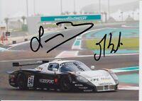 Francisco Longo and Matteo Bobbi Hand Signed 7x5 Photo - FIA GT Championship 3.