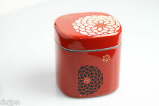Boîte à thé ou café Japonaise fleurie rouge
