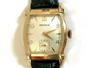 BENRUS Small Second Cal.AXZ MODELBB5 Manual Winding Vintage Watch 1950's