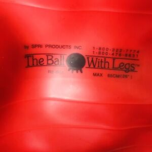 The Ball With Legs by SPRI PRODUCTS Inc.  ~ Red Exercise Ball