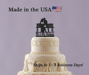 Reading Wedding Cake Topper, Book Cake Topper, Personalized Name and Date,LT1401
