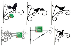 """Hanging basket brackets, choice of styles and sizes 10"""" 12"""" 15"""" 16"""" Decorative"""