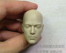 Toys 1/6th Head Scuplt Carving Monk White Mold Universal Change Figure Toys Gift