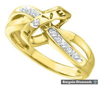 diamond .10-carats love 10K yellow gold ring right hand promise
