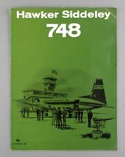 HAWKER SIDDELEY HS748 MANUFACTURES SALES BROCHURE 1964 SEAT MAPS