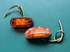 Side Market Indicator Turn Lamps LED 12v Amber A Pair (2 Off ) New *LB8*