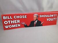 """/""""JUST BECAUSE YOU/'RE OFFENDED/"""" Anti Political Correctness BUMPER STICKER hillary"""