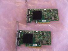 TWO MHGH28-XTC Mellanox DUAL PORT ConnectX 20Gb/s 4X PCI-E QoS RDMA Adapter Card