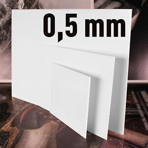 Polystyrol Platten PS Platte weiss, verschiedene Größen, in der   Stärke: 0,5 mm