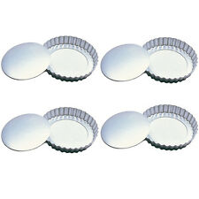 """Fox Run 4"""" Tartlet Quiche Pan Set W/ Removable Bottom Set Of 4 Pastry New 4590"""