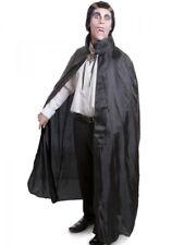 Adult Black Cape Cloak Robe Halloween Vampire Witch Wizard Fancy Dress Costume