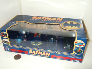 Corgi 77312 Set of X4 DC Comics Batmobile or Batmarine Crafts in 1:43 Scale