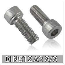 10x DIN912 M4x12 A2 304 Stainless Steel Allen bolt Hex socket head cap screw