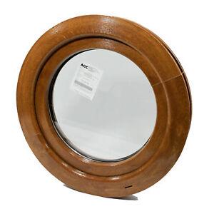Rundfenster Kunststofffenster Golden Oak oder Nussbaum - 1 Seitig Aussen! KIPP