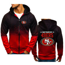 San Francisco 49ers Football Hoodie Zipper Sweatshirt Hooded Fans Sport Jacket