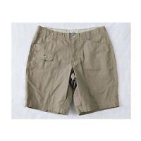 "COLUMBIA Olive Walking Hiking Shorts Women's Size 8 Cargo Pocket Bermuda 8.5"""