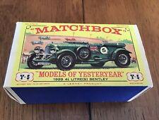 "Matchbox  Models of Yesteryear 1929 BENTLEY Y-5  ""EMPTY BOX"""