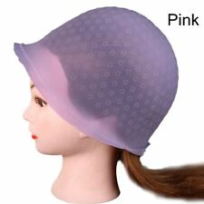 Reusable Hair Colouring Highlighting Cap Hook Frosting Tipping Silicone Hat Hot Blue
