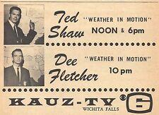 1964 KAUZ TV AD~TED SHAW~DEE FLETCHER~METEOROLOGIST~WICHITA FALLS TEXAS WEATHER
