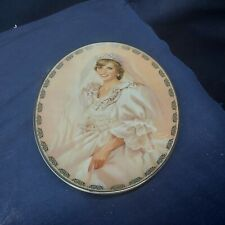 """1997 Bradford Exchange Collector's Oval Plate """"The People'S Princess"""""""