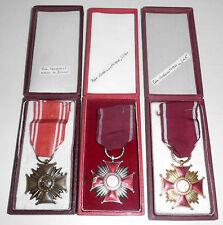 Polen Polska Poland Verdienstkreuze Gold Silber Bronze in Originalverpackung