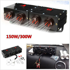DC 12V 150W/300W Car Portable Metal Heating Dry Heater Fan Defroster Demister