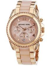Michael Kors MK5943 Blair Rose Gold Blush Acetate Stainless 42mm Women's Watch