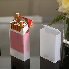 2PCS Flip Top Soft Transparent Plastic for 20 pcs Cigarette Case Box Holder SALe