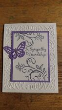 Handmade SYMPATHY card, Stampin Up Falling Flowers, Butterfly, Wisteria Wonder