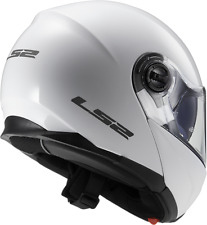 Ls2 casco modular Ff325 Strobe blanco brillante L
