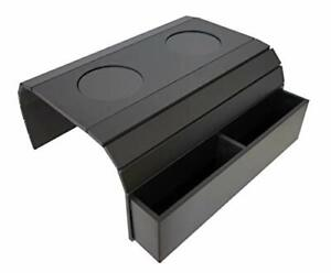 Sofa Arm Tray Table. Remote Control and Cellphone Organizer Holder.  Black.