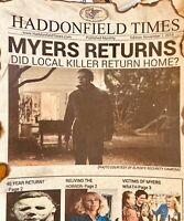 Halloween Michael Myers Halloween Kills News Print