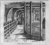ATLANTIC TELEGRAPH CABLE OPERATORS' QUARTERS ON BOARD THE SHIP NIAGARA TELEGRAPH