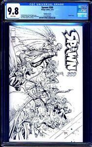 Spawn #300 B&W SKETCH VARIANT P CGC 9.8 Gunslinger Spawn UNIVERSE COVER NM/MT
