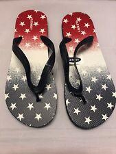 Old Navy Men Shoes Flip Flops Sandals Red White Blue