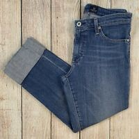 AG Adriano Goldschmied The Premiere Skinny Straight Cuff Crop Jeans FSH Wash 29