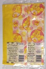 Care Bears Tissue Paper Funshine Bear The Finishing Touch Yellow New 2 packages