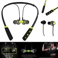 New Green Bluetooth Wireless Headphones Sport Mic For ASUS Phone Cases
