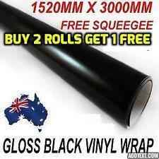BRAND NEW Gloss Black Car Vinyl Wrap Sticker1520mm X  3000mm ,FREE SQUEEGEE,OZ