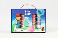 Silk Clay 21pcs Set Rainbow Colours Self Hardening Soft Modelling + Tools