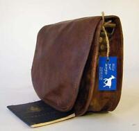 "Handmade Goat Leather 9"" Shoulder Flap Bag FXS/R iPad Mini Billy Goat Designs"