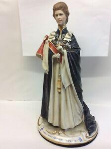 Capodimonte Bruno Merli Ltd Ed Queen Elizabeth Second Silver Jubilee Figurine