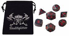 Butcher's Bill | Gunmetal Gray with Red Numbering  Metal Set (7 Die in Pack)