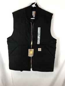Carhartt Men's Duck Vest Black Size Medium