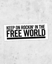 """Neil Young inspired Sticker! """"Rockin' In The Free World"""" crazy horse, freedom"""
